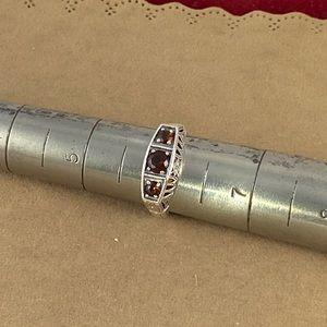 Gem Emporium Jewelry - Garnet set in 925 Silver Size 6